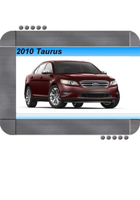 where to buy car manuals 2010 ford taurus parking system ford 2011 taurus owners manual pdf download autos post
