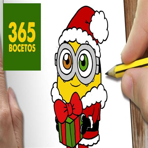 dibujos de navidad paso a paso o dibujar un minion para navidad paso a paso dibujos kawaii colorear website