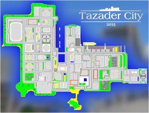 minecraft world map city homes tazader city 2015
