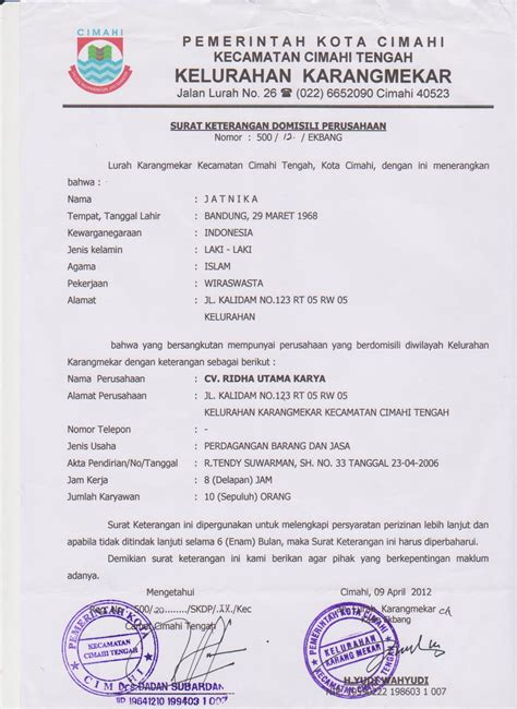 prosedur membuat surat keterangan domisili usaha legalitas usaha automotif solution