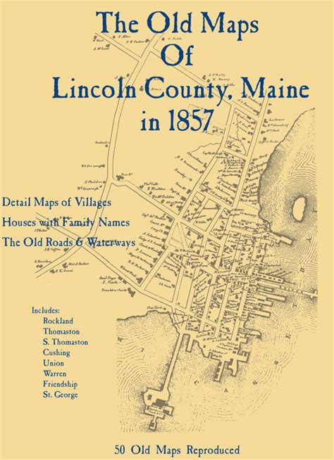 lincoln county il the maps of lincoln county maine in 1857