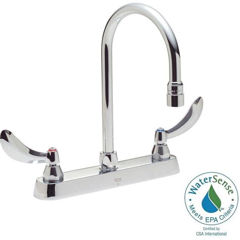 Delta Commercial Faucet by Delta Commercial 8 In Widespread 2 Handle High Arc