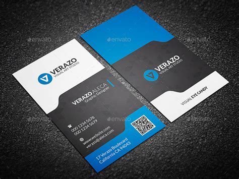 modern business card template vertical modern stylish vertical business card template by verazo