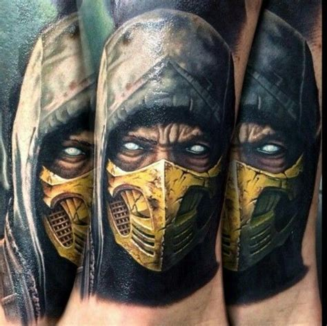 scorpion from mortal kombat x tattoo mortal kombat