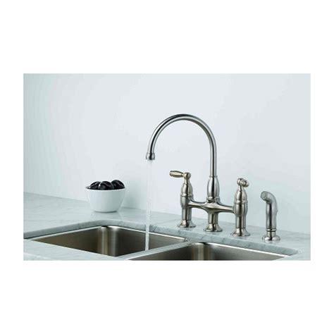 delta 21966lf ss dennison bridge kitchen faucet w spray delta 21966lf ss dennison bridge kitchen faucet w spray
