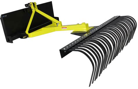 3 Point Landscape Rake Uses Skid Steer Landscape Rake Soil Gravel Lawn Tow Push 3