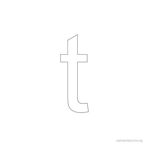 free printable lowercase letter stencils print free alphabet stencils lowercase t other diy