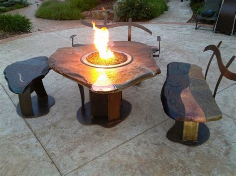 diy gas fire pit designs ideas to make at home