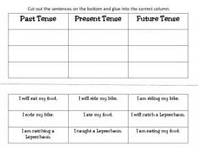 18 best images of past and present tense worksheet first