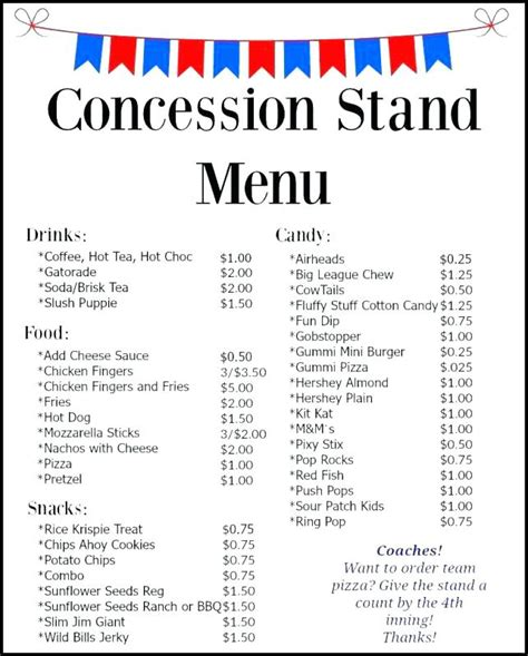 Movie Party With Free Printable Concession Stand Sign Template How To Throw A Fun Backyard Concession Stand Flyer Template