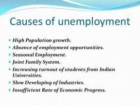 Essay On Cause And Effect Of Unemployment unemployment problem socio economic problem