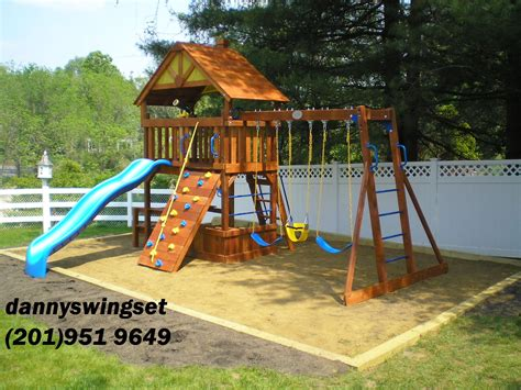 rainbow swing set stain exterior simple wood gorilla playset set ideas for your