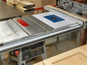 625 router with top adjusting kit into delta table saw