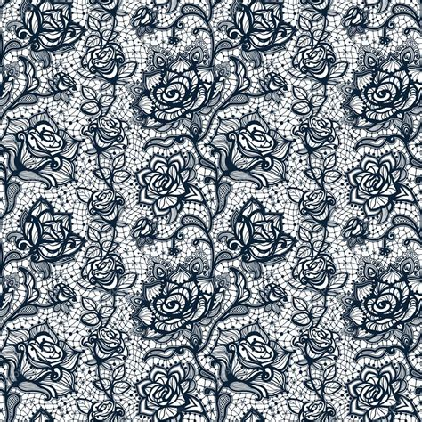 seamless pattern lace abstract seamless lace pattern with flowers roses stock