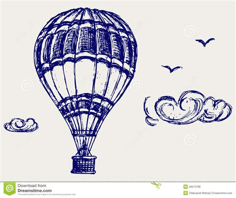 balloon doodle vector free balloon sketch royalty free stock image image 26513786