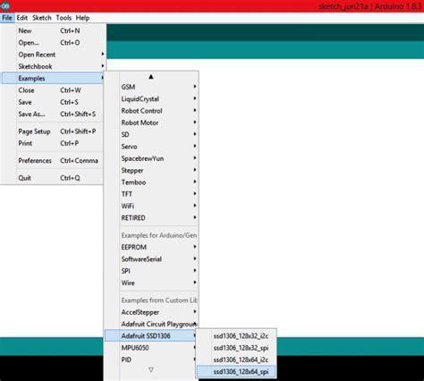 arduino code exles display with arduino interfacing ssd1306 oled