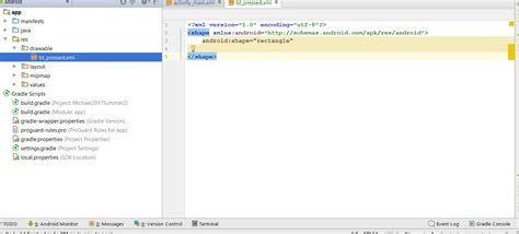 android layout drawable xml xml keywords not colored in android studio in new drawable