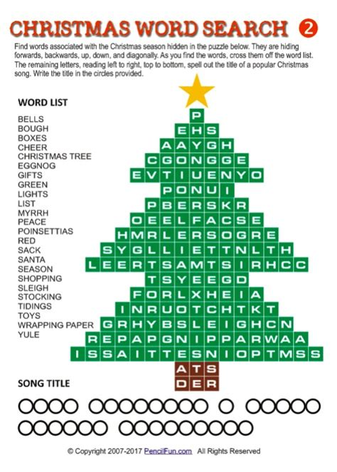 unique christmas word search puzzles by pencil fun