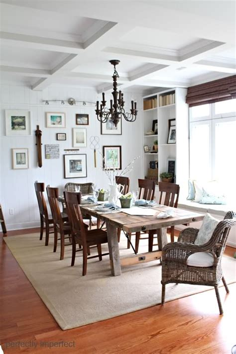 dining room farmhouse table stunning architectural details wood beams