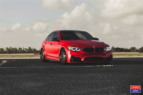2017 Bmw M3 Facelift In Red Gets Custom Vossen Wheels