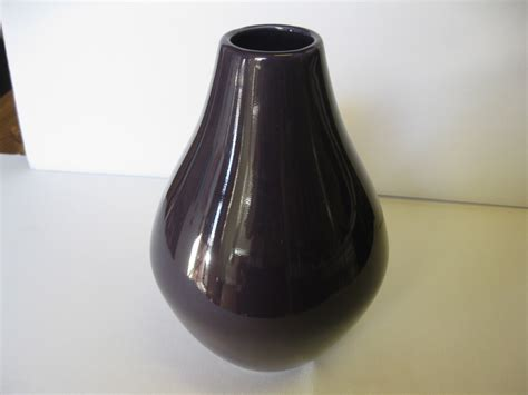 haeger pottery 10 quot purple vase bulb bottom new usa haeger