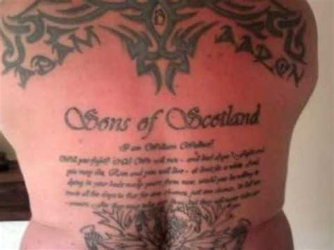 braveheart tattoo designs scotland the brave my back