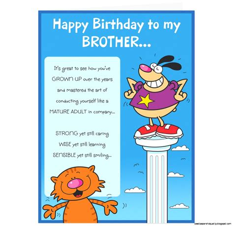 free printable birthday cards brother funny birthday cards brother gangcraft net