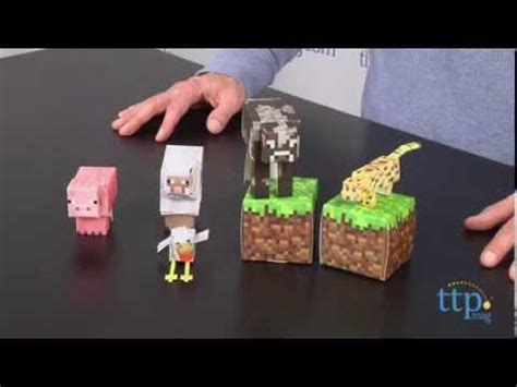 Minecraft Papercraft Animal Mobs Set - minecraft papercraft overworld animal mobs from jazwares