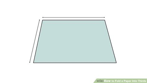 How To Fold A Paper Into 3 Equal Parts - 5 ways to fold a paper into thirds wikihow