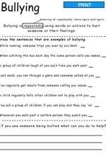 printable bullying quiz bullying printable