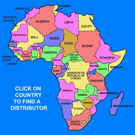 map of africa with country name countries in africa map