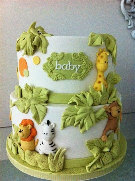jungle theme baby shower cake quot jungle quot themed cake for a baby shower or child s
