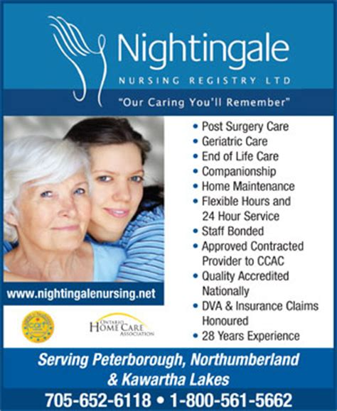 nightingale nursing registry ltd 2948 lakefield rd