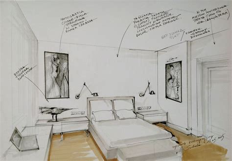 interior conceptual sketch bedroom sketch by magdalena