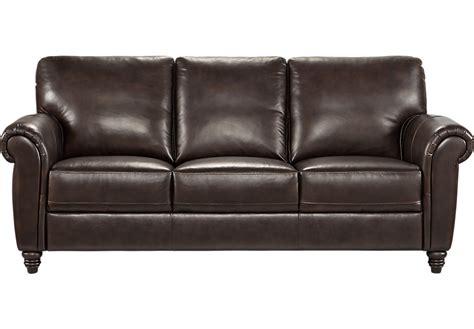 Rooms To Go Leather Sofa home lusso coffee bean leather sofa