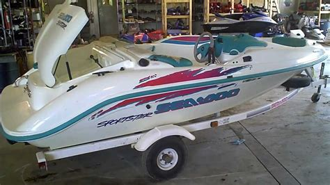 seadoo jet boat youtube lot 1316a 1995 sea doo sportster jet boat 657x engine