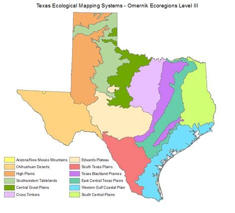 texas biomes map tpwd regulations the knownledge