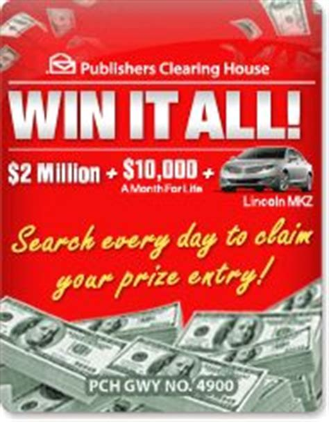 Pch Win 1 Million A Year For Life - million a year for life win a million dollars with pch com superprize my home in