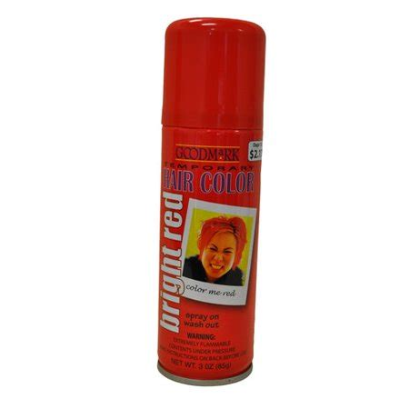 temporary hair color spray goodmark temporary hair color spray orange walmart