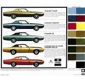 1972 Chrysler De Soto Dodge And Plymouth Paint Charts