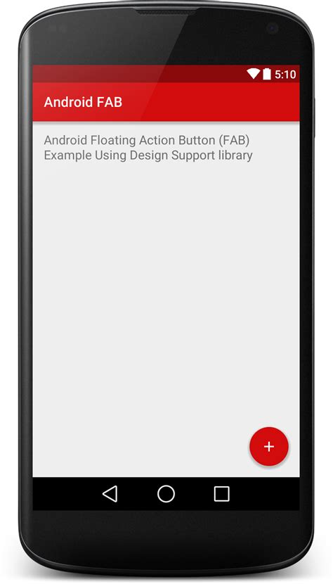 Android Button by Floating Button Fab Using Android Design Support