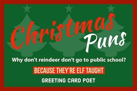 christmas puns    season merry bright greeting card poet