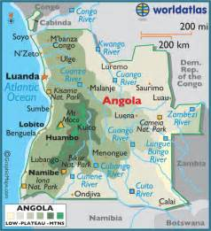 africa map angola angola large color map