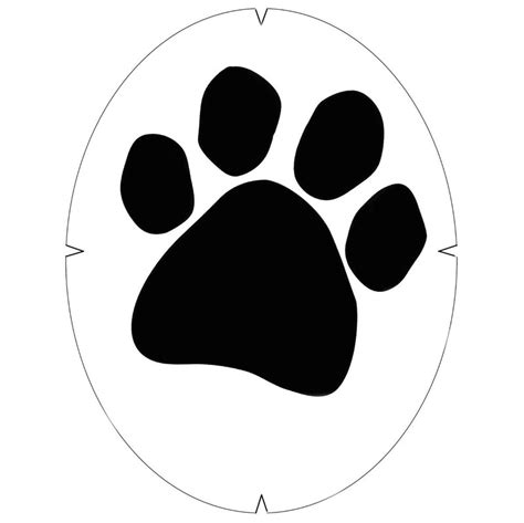 tourna paw print stencil tennis accessories
