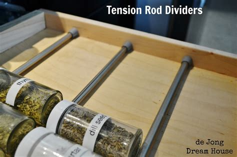 Tension Drawer Dividers by De Jong House Uses For Tension Rods