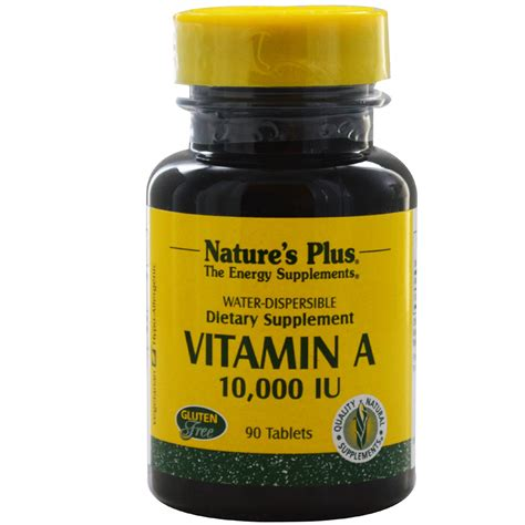 Vitamin Tablet nature s plus vitamin a 10 000 iu 90 tablets iherb