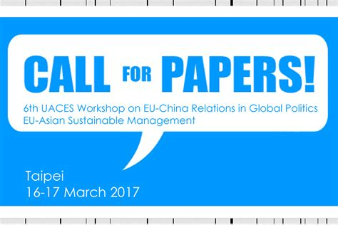 Sustainability Management Mba by Call For Papers 6 Uaces Workshop Eu Asian Sustainable