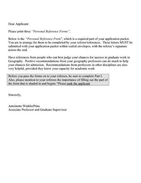 personal letter of recommendation template personal letter of recommendation exle free resumes tips