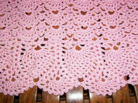 Pineapple Crochet Baby Blanket Pattern by Baby Pink Pineapple Lace Crochet Blanket Photo By Tekoag