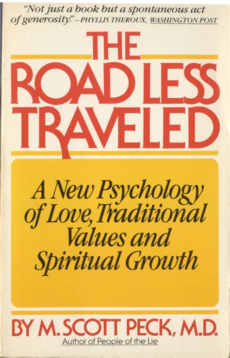 taking the road less traveled books the road less traveled by m peck davesandel